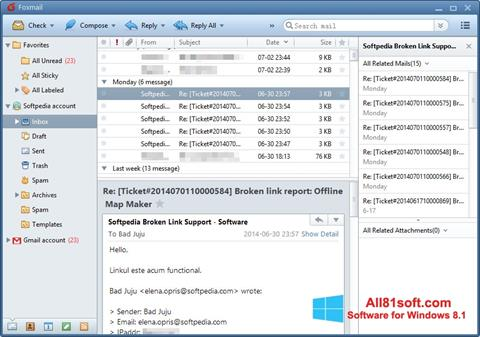 Screenshot FoxMail para Windows 8.1