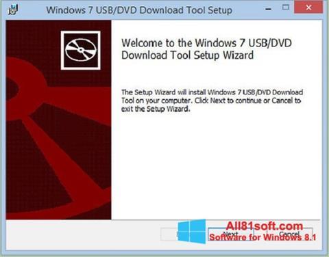 Screenshot Windows 7 USB DVD Download Tool para Windows 8.1