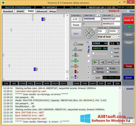 Screenshot Victoria para Windows 8.1