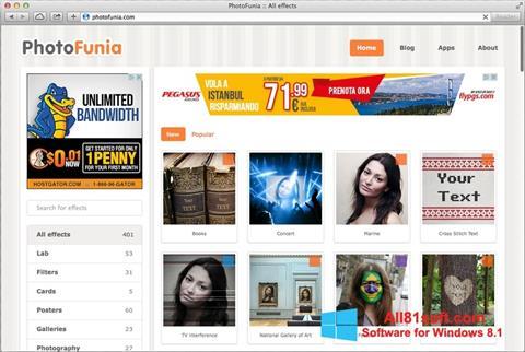 Screenshot PhotoFunia para Windows 8.1