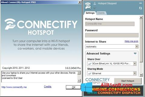 Screenshot Connectify para Windows 8.1