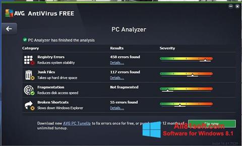 Screenshot AVG AntiVirus Free para Windows 8.1