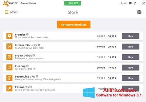 Screenshot Avast Free Antivirus para Windows 8.1