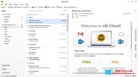 Screenshot eM Client para Windows 8.1