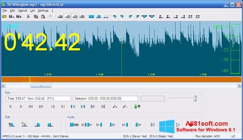 Screenshot mp3DirectCut para Windows 8.1