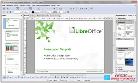Screenshot LibreOffice para Windows 8.1