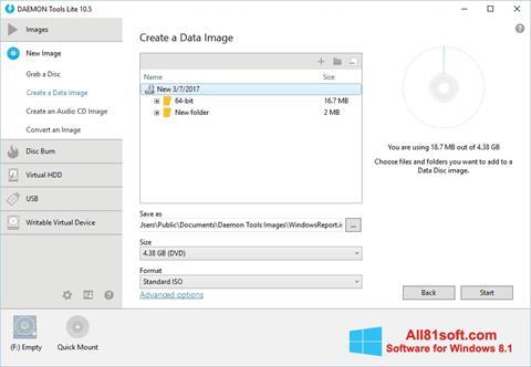 Screenshot DAEMON Tools Lite para Windows 8.1