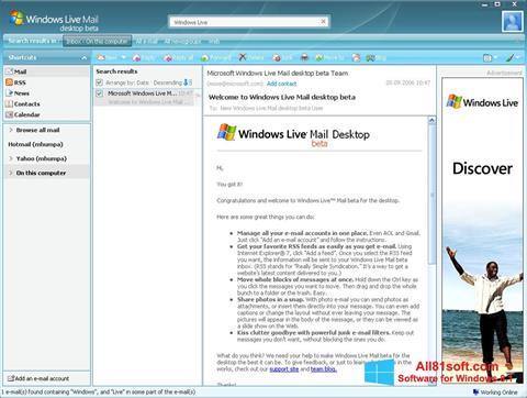 Screenshot Windows Live Mail para Windows 8.1