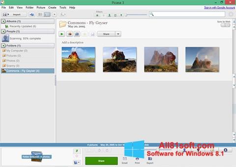 Screenshot Picasa para Windows 8.1