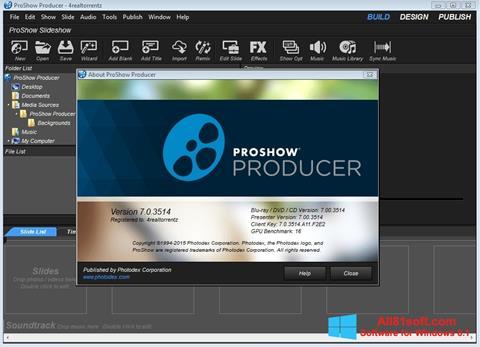 Screenshot ProShow Producer para Windows 8.1