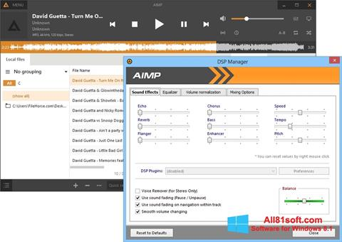 Screenshot AIMP para Windows 8.1