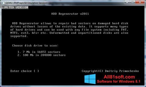 Screenshot HDD Regenerator para Windows 8.1