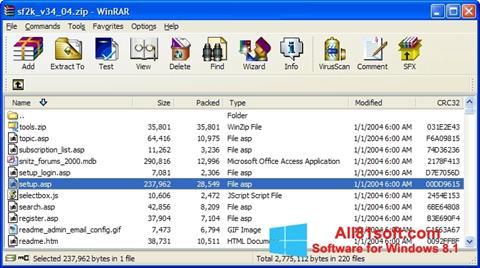 Screenshot WinRAR para Windows 8.1