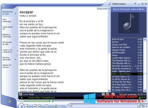 Screenshot Windows Media Player para Windows 8.1