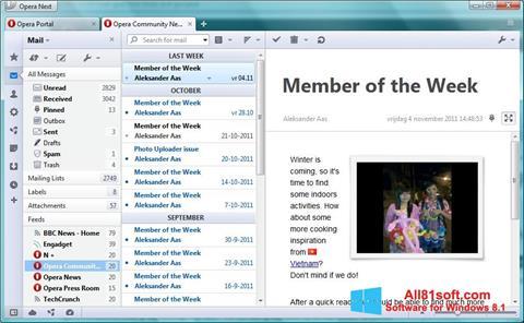 Screenshot Opera Mail para Windows 8.1