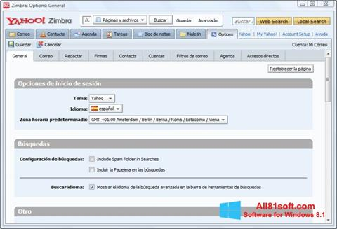 Screenshot Zimbra Desktop para Windows 8.1