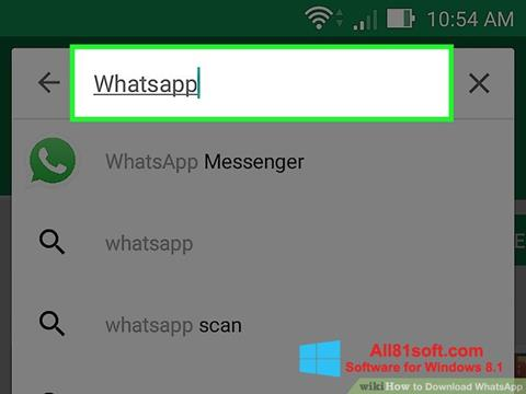Screenshot WhatsApp para Windows 8.1